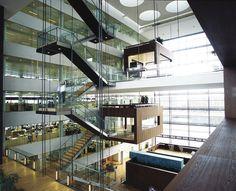 The meeting room of Nykredit's head office by Schmidt Hammer Lassen Architects. Credits by Schmidt Hammer Lassen Architects. Stairs Architecture, Interior Architecture, Interior And Exterior, Contemporary Architecture, Interior Design, Interior Staircase, Atrium Design, Espace Design, Bureau Design