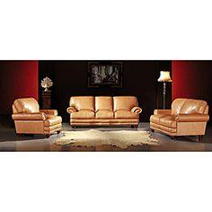 @Overstock - Luxuriously soft leather highlights this 3-piece Thomas sofa set. This furniture set features down feather fill and top-grain Italian hide construction.http://www.overstock.com/Home-Garden/Thomas-Camel-Tan-3-piece-Leather-Sofa-Set/5125457/product.html?CID=214117 $2,936.99