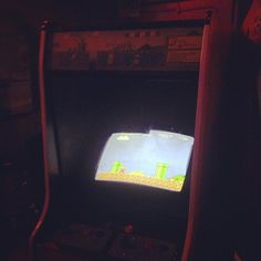 #8bitArcadeBar my photos inside this bar suck but you can see the screens and that's all that matters. ;) #MarioBros