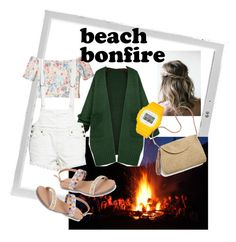 """""""#beachbonfire"""" by lindacorp on Polyvore featuring Polaroid, WithChic, Hollister Co., Free People and Mar y Sol"""