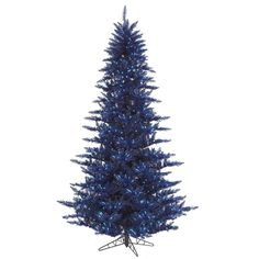 Vickerman 75' Navy Blue Fir Artificial Christmas Tree with 750 Blue Lights ^^ To view further, visit now : Garden Christmas Decorations