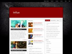 Influx WordPress Single Theme Blogging