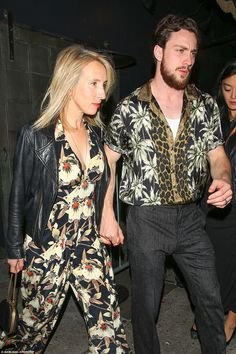 Quite a sight:Aaron Taylor-Johnson and Sam Taylor-Johnson certainly turned heads as they ...