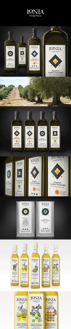 IONIA Olive oil  Packaging Design Greece
