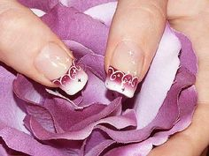 Give style to your nails by using nail art designs. Donned by fashion-forward celebs, these nail designs can incorporate immediate allure to your apparel. Fingernail Designs, Nail Art Designs, Nails Design, French Nails, Fancy Nail Salon, Nailart, Elegant Nail Art, Nail Art Photos, Funky Nails