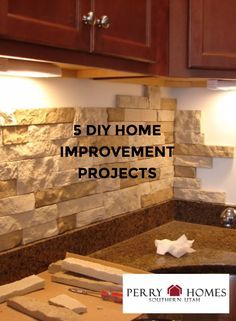 AirStone is an eco-friendly manufactured stone veneer that is much lighter than real stone. It has the appearance of real stone but is much more affordable and the best part is the easy installation. All you need is the AirStone, construction adhesive, and a hacksaw. Once you have your supplies, you just add the adhesive to the back of the stone and stick to the surface of your project, it's that simple. Here are five home improvement projects you can do yourself.