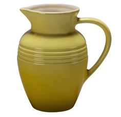 Pitcher 2.25 quart - Soleil - The color-coordinated stoneware pitcher is perfect for making iced tea - the stoneware easily accommodates temperature changes from ice cold to boiling. A welcome piece for any table! Made by Le Creuset.