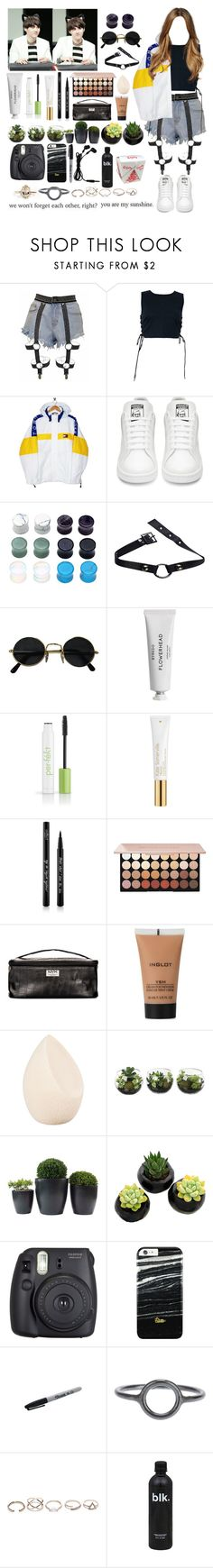 """Fan sign with yoongi  (Boyfriend)"" by vbril ❤ liked on Polyvore featuring Tommy Hilfiger, GET LOST, Byredo, Per-fékt Beauty, Kate Somerville, Eyeko, NYX, Inglot, Christian Dior and Fuji"