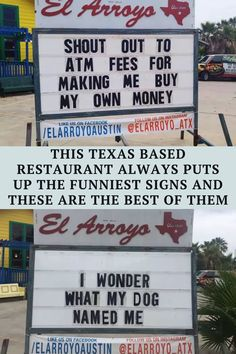 You have to do things to get noticed in this economy and one restaurant in Texas has done just that. They have been posting hilarious jokes on the sign in front of their location and posting it to Instagram as well. If their business fails, they might actually have a career in comedy to fall back on.