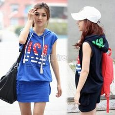 $8.80 two-piece Sports Wear Hooded Top T-shirt+ Skirt Leisure Jogging Suit