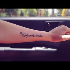 turn your wounds into wisdom. I think this would be absolutely perfect over my scars from self harm.