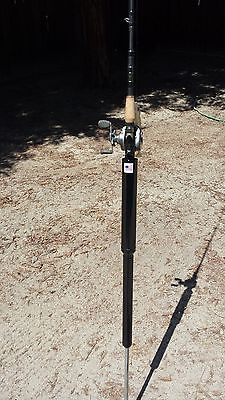 Bank fishing rod holder  built in slide hammer  fishing pole holder  surf beach