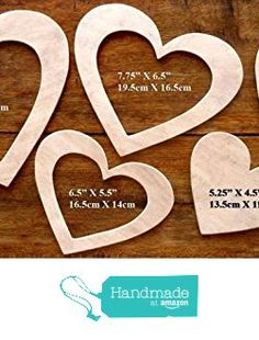 An Extra Special, Extra Large Set Of 6 Different Sized Hand Crafted MDF 'Heart' Drawing Templates (Set 3) from The Andromeda Print Emporium https://www.amazon.co.uk/dp/B01K79RMRC/ref=hnd_sw_r_pi_dp_fIxRxbTRXV3RK #handmadeatamazon