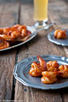 Smokey Hot Beer Shrimp by thebeeroness: 15 minutes. #Shrimp #Beer