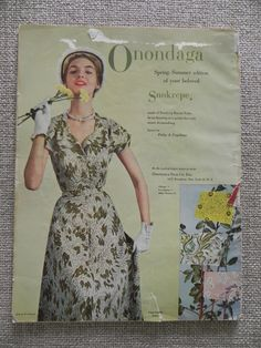 Vogue 7031 in Vogue Pattern Book April - May 1950 | Onondaga ad