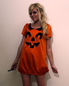 Made to Order Pumpkin Dress by imyourpresent on Etsy $72.00. I want my pregnant  sc 1 st  Pinterest & 26 Awesome Pregnant Halloween Costumes | Halloween costumes ...