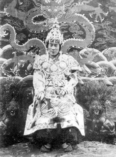 HHDL in traditional clothing