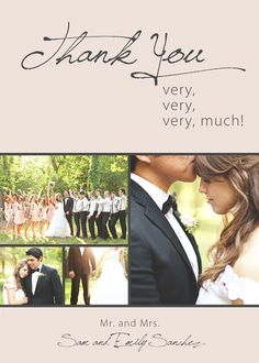 Thank You Very Much - Custom Photo Wedding Thank You Cards, Announcements. $12.99, via Etsy.