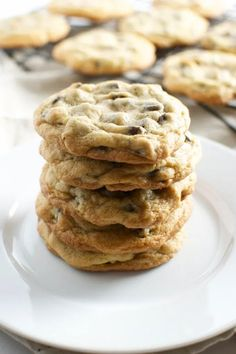 This is my favorite recipe for chocolate chip cookies. They taste just like they would from a fresh bakery! #stuckonsweet #cookies #dessert #recipe Chocolate Chip Cookies, Chocolate Desserts, Chocolate Chips, Chocolate Cake, Baking Recipes, Cookie Recipes, Dessert Recipes, Dessert Ideas, Cookie Ideas
