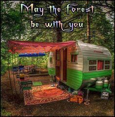 ☮ American Hippie ☮  A little spot in the forest ...