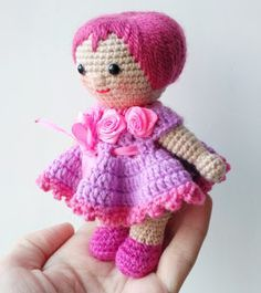 How to crochet a dress for a doll