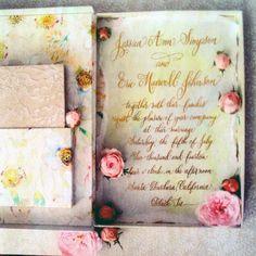 Jessica Simpson's wedding invitation by Momental Designs/designsgirl calligraphy