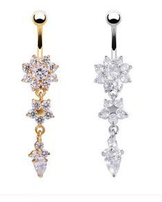 Χρυσό και ασημί υποαλλεργικό σκουλαρίκι αφαλού best seller Belly Button Piercing, Drop Earrings, Jewelry, Jewlery, Jewerly, Navel Piercing, Schmuck, Drop Earring, Jewels