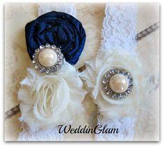 Wedding Garter  Ivory Lace Garter Set Bridal Garter  by WeddinGlam, $29.95