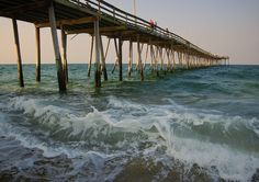 Nags Head Fishing Pier on the Outer Banks, NC - where my granddaddy spent so much of his time ! So many good people there. Joe Justice...E.M. and many others....I was too young...cant remember all the names. Joe and Stella ran our motel....they were awesome !