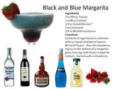 Black and Blue Margarita, too fun!  Margaritas | Midnight Mixologist