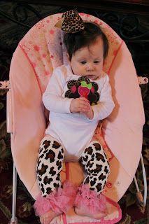 Cute little appliqué turkey shirt! Baby's first Thanksgiving! Leopard and polk a dots!