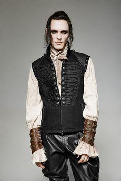 Uniform-Weste Tyrion im Gothic- / Steampunk-Look - Victorian Sci-Fi - Gothic Steampunk Makeup, Steampunk Costume, Steampunk Clothing, Steampunk Fashion, Gothic Corset, Victorian Steampunk, Victorian Vampire, Gothic Lolita, Dark Fashion