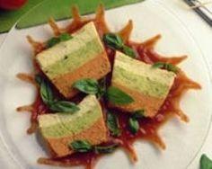Flan de légumes variés au coulis de poivrons (facile, rapide)