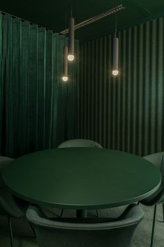 Monochrome Interior, Office Interior Design, Office Interiors, Interior Styling, Acoustic Wall Panels, Oval Table, Workplace Design, Green Rooms, Pink Room