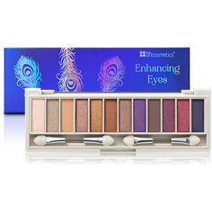 Enhancing Eyeshadow Palette for Blue Eyes | BH Cosmetics ($7) ❤ liked on Polyvore featuring beauty products, makeup, eye makeup, eyeshadow, palette eyeshadow and bhcosmetics