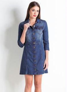 Vestido Jeans Colcci (Azul)