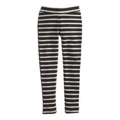 crewcuts Girls Cozy Everyday Leggings In Charcoal Stripe (Size 14 Kid)