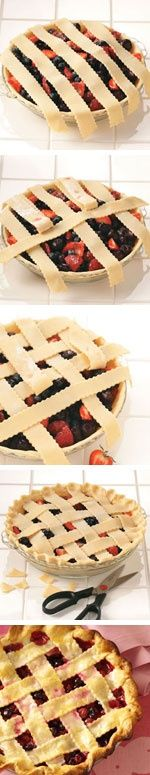 How to Make a Lattice Pie from Taste of Home