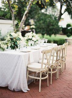 Garden wedding table: http://www.stylemepretty.com/2014/04/17/classic-elegance-inspiration-at-the-santa-barbara-club/   Photography: Patrick Moyer - http://www.patmoyerweddings.com/