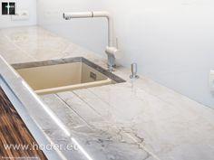 Blaty do kuchni - jasny, naturalny odcień kamienia #kitchen #arragments #kuchnia #homedecor #home #exclusive