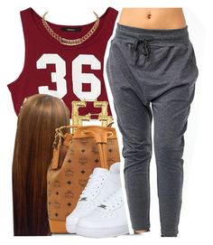 """""""."""" by trillest-queen ❤ liked on Polyvore featuring Forever 21, MCM, NIKE and Givenchy"""