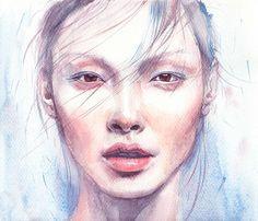 Alice Ma Drawing Portrait by Lena Leonovich