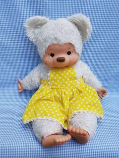 "monchhichi white bear doll 18 "" Bear Doll, Onesies, Teddy Bear, Dolls, Friends, Kids, Baby, Animals, Baby Dolls"