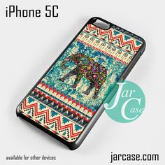 Aztec Blue Floral Elephant Phone case for iPhone 5C and other iPhone devices
