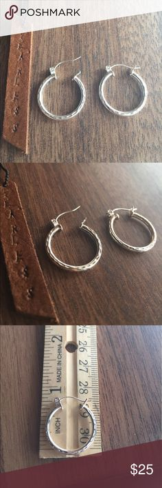Sterling silver earrings round hoops 925 😍 Solid Sterling silver, shop with confidence 🎊🎉 our jewelry is stamped 925 for the quality assurance 😍 #Sterlingsilver #Jewelry #Imperfectdivine 16 inch Sterling silver chain 925 Sterling silver earrings Jewelry Earrings