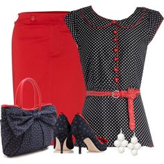 """Lady Bug"" by dixiendottie on Polyvore"