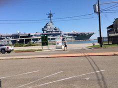 USS Lexington Uss Lexington, Sidewalk, Walkways, Pavement