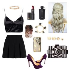 """""""princess 👸🏼💁🏼💋✨"""" by larissa-coimbra ❤ liked on Polyvore featuring Christian Louboutin, Chanel, Lipstick Queen, LORAC, Gucci, Cartier, LULUS, Skinnydip and Alexander Wang"""