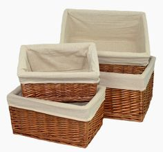 Red Hamper - Double Steamed Lined Storage Basket Set 4, £55.00 (http://www.redhamper.co.uk/double-steamed-lined-storage-basket-set-4/)