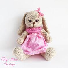 Amigurumi Pembe Elbiseli Tavşan Yapılışı- Amigurumi Polka-dot Bunny Free Pattern